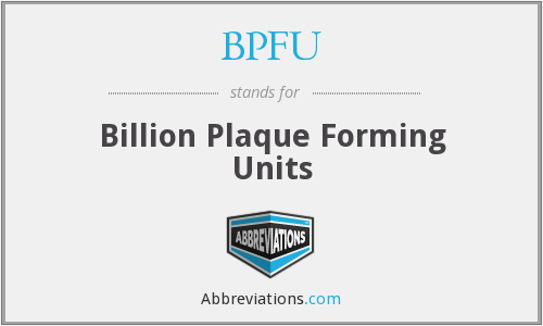 What does BPFU stand for?