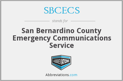 What does SBCECS stand for?