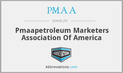 What does PMAA stand for?