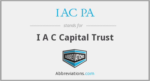 What does IAC PA stand for?