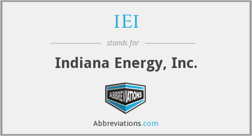What does IEI stand for?