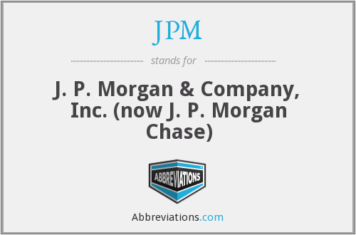 What does JPM stand for?