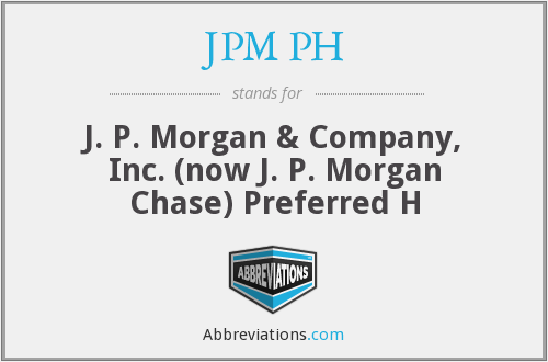 What does JPM PH stand for?