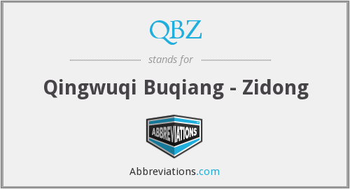 What does QBZ stand for?