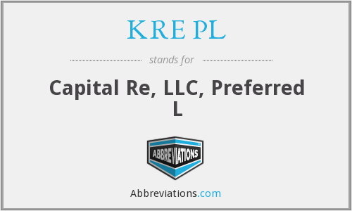 What does KRE PL stand for?