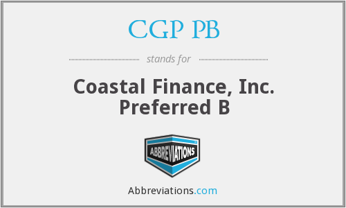 What does CGP PB stand for?