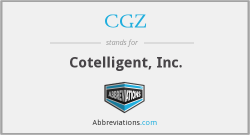 What does CGZ stand for?