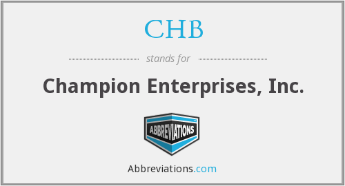 What does CHB stand for?