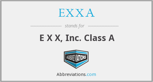 What does EXXA stand for?