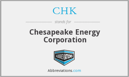 What does CHK stand for?