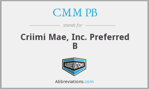 What does CMM PB stand for?
