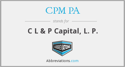 What does CPM PA stand for?