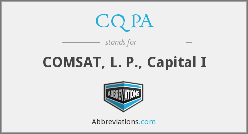 What does CQ PA stand for?