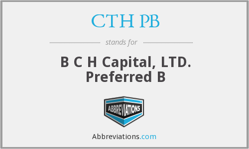 What does CTH PB stand for?