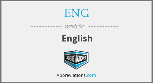 What does ENG stand for?