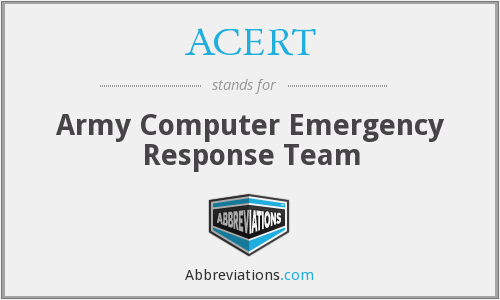What does ACERT stand for?