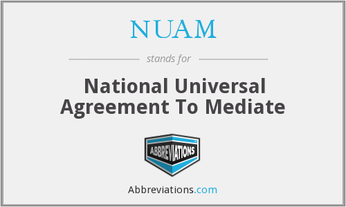 What does NUAM stand for?