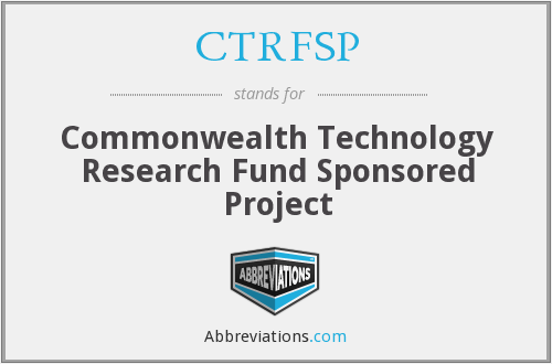 What does CTRFSP stand for?
