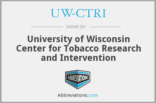 What does UW-CTRI stand for?