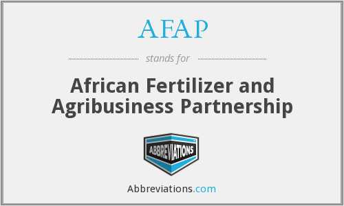 What does AFAP stand for?