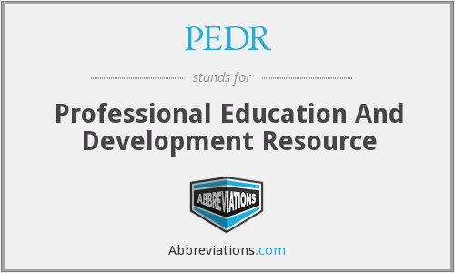 What does PEDR stand for?