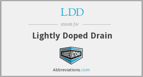 What does LDD stand for?