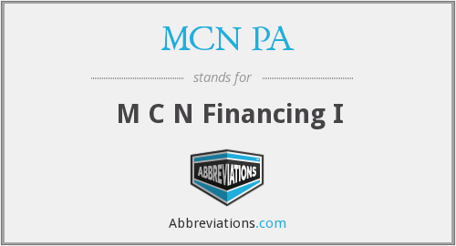 What does MCN PA stand for?