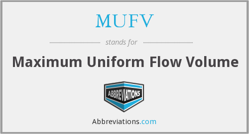 What does MUFV stand for?