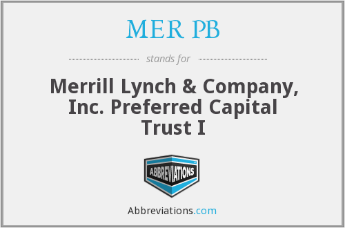 What does MER PB stand for?
