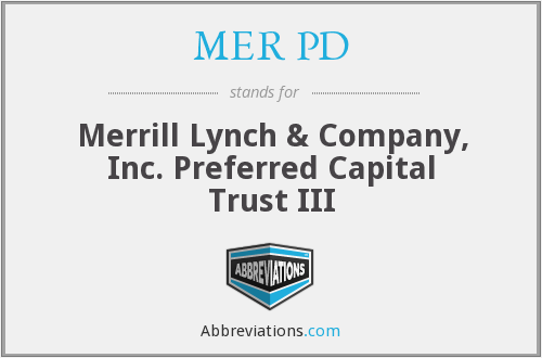 What does MER PD stand for?