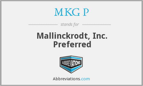 What does MKG P stand for?