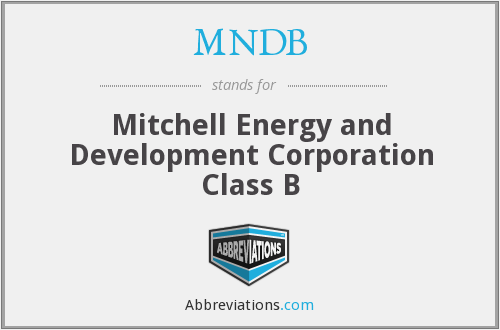 What does MNDB stand for?