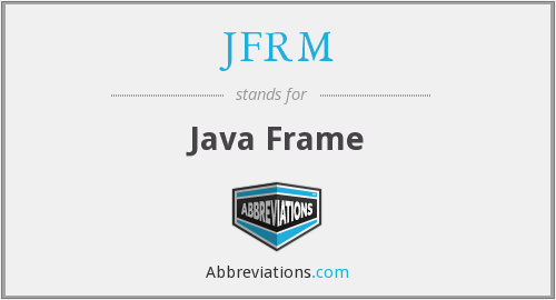 What does JFRM stand for?