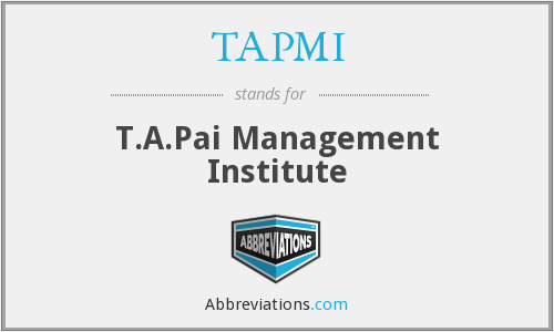 What does TAPMI stand for?