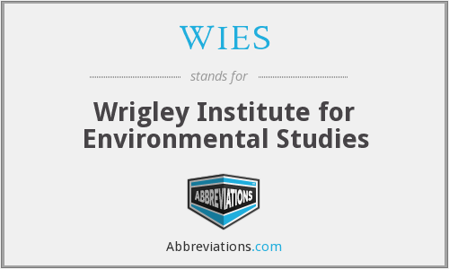 What does WIES stand for?