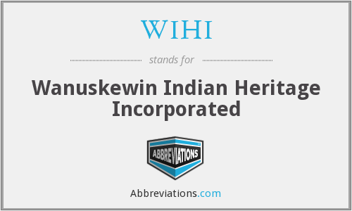What does WIHI stand for?