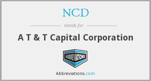 What does NCD stand for?