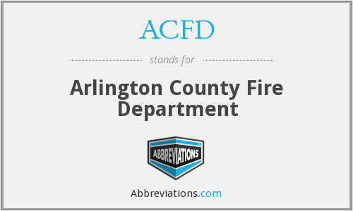 What does ACFD stand for?