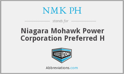 What does NMK PH stand for?