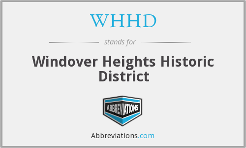 What does WHHD stand for?