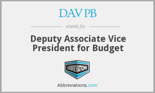 What does DAVPB stand for?