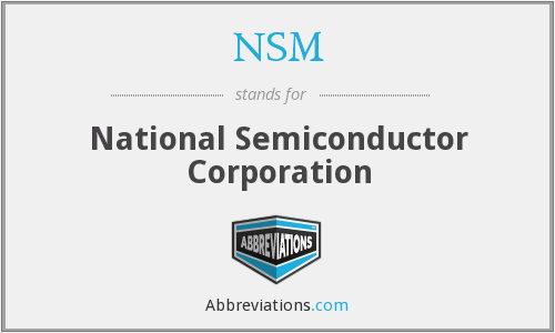 What does NSM stand for?