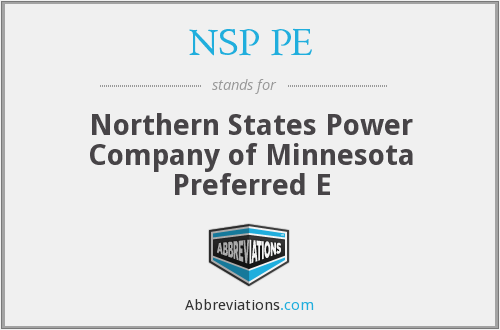 What does NSP PE stand for?