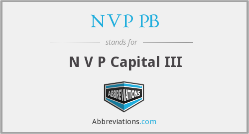 What does NVP PB stand for?