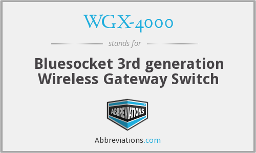 What does WGX-4000 stand for?
