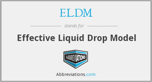 What does ELDM stand for?