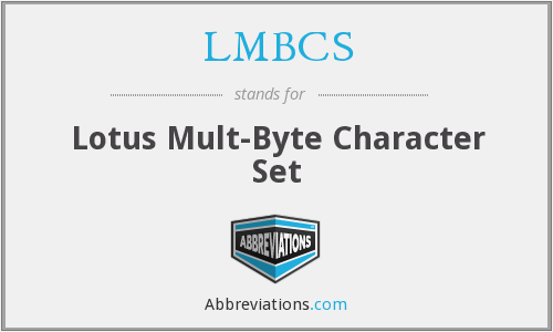 What does LMBCS stand for?