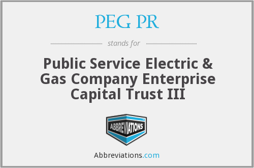 What does PEG PR stand for?