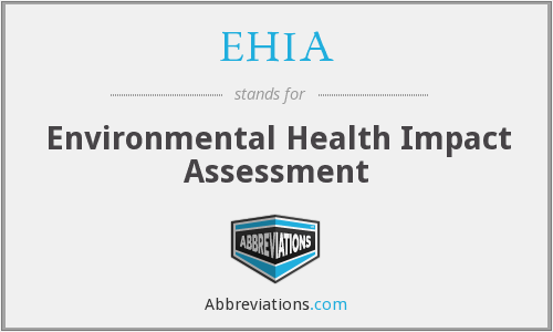 What does EHIA stand for?
