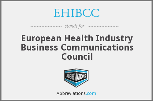 What does EHIBCC stand for?